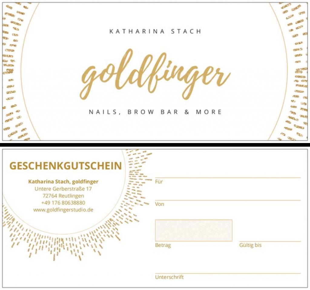 goldfinger - gutschein